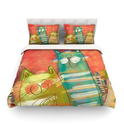 Gatos by Carina Povarchik Featherweight Duvet Cover Size: King