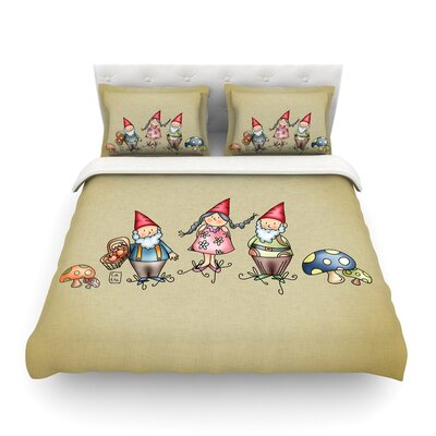 Gnomes by Carina Povarchik Featherweight Duvet Cover Size: Full/Queen