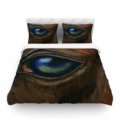Arabian Eye Animals by Cyndi Steen Featherweight Duvet Cover Size: King