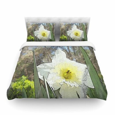 Daffodil by Cyndi Steen Featherweight Duvet Cover Size: King