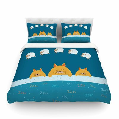 Sleeping Cats Zzzz Animals by  Cristina Bianco Featherweight Duvet Cover Size: King