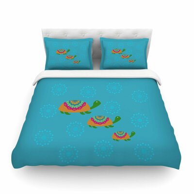 The Turtles by Cristina Bianco Featherweight Duvet Cover Size: Twin