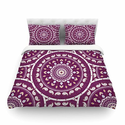 Mandala Design Abstract by Cristina Bianco Featherweight Duvet Cover Size: King