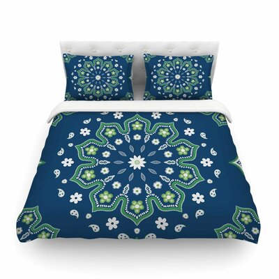 Mandala Design by Cristina Bianco Featherweight Duvet Cover Size: Full/Queen