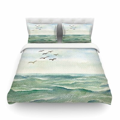 Flock Flying Low by Cyndi Steen Featherweight Duvet Cover Size: King