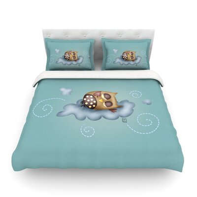 Sleepy Guardian by Carina Povarchik Featherweight Duvet Cover Size: Twin