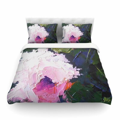 Textured Rose Painting Featherweight Duvet Cover Size: King