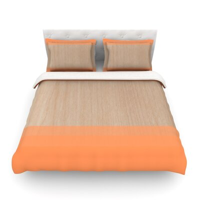 Art by Brittany Guarino Featherweight Duvet Cover Size: Full/Queen, Color: Orange