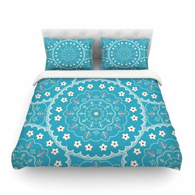 Mandala Floral by Cristina Bianco Featherweight Duvet Cover Size: King