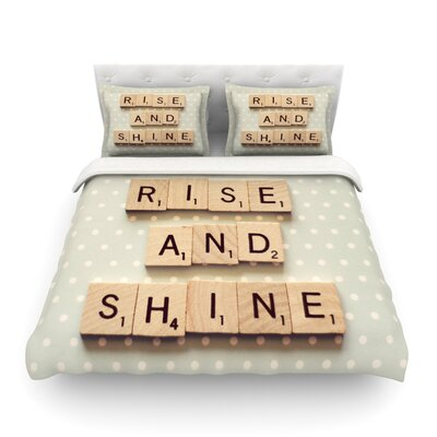 Rise and Shine by Cristina Mitchell Featherweight Duvet Cover Size: King