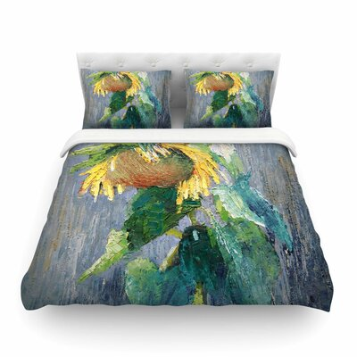Lonely Sunflower Nature Featherweight Duvet Cover Size: King