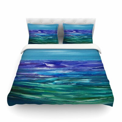 Moonlit Waves by Cyndi Steen Featherweight Duvet Cover Size: Twin