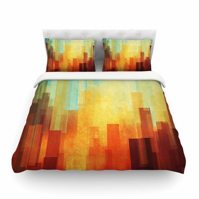 Urban Sunset Geometric Featherweight Duvet Cover Size: Full/Queen
