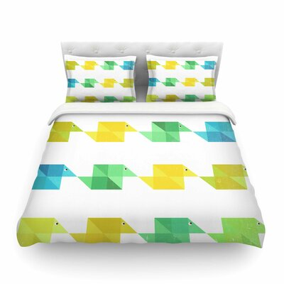 Duck Pattern by Cvetelina Todorova Featherweight Duvet Cover Size: King