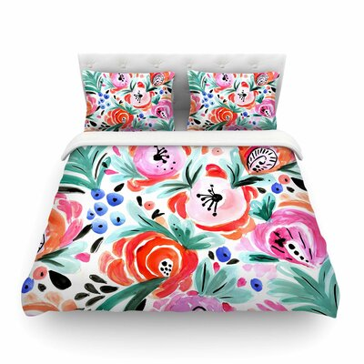 Boho Morning Glory by Crystal Walen Featherweight Duvet Cover Size: King