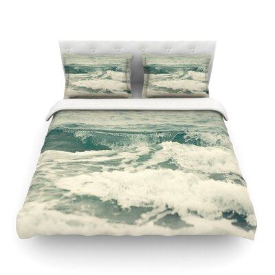Crashing Waves Ocean by  Cristina Mitchell Featherweight Duvet Cover Size: King