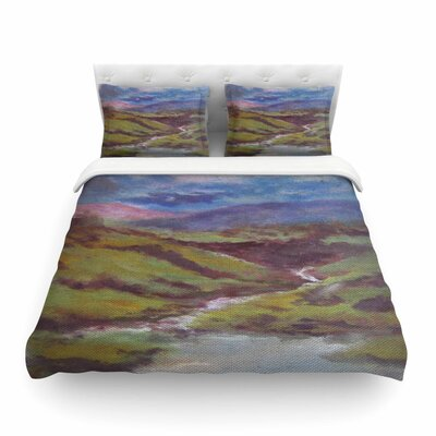 Dreaming of Scotland by Cyndi Steen Featherweight Duvet Cover Size: Twin