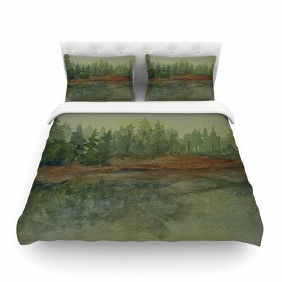 Reflections Watercolor by Cyndi Steen Featherweight Duvet Cover Size: Twin