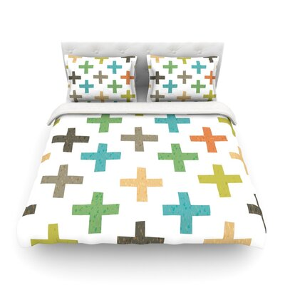 Hipster Crosses by Daisy Beatrice Featherweight Duvet Cover Size: Full/Queen