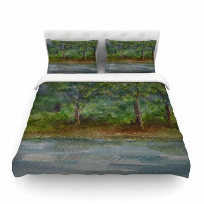 Storm on the Pond by Cyndi Steen Featherweight Duvet Cover Size: Twin
