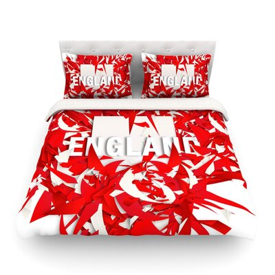 England World Cup by Danny Ivan Featherweight Duvet Cover Size: Full/Queen