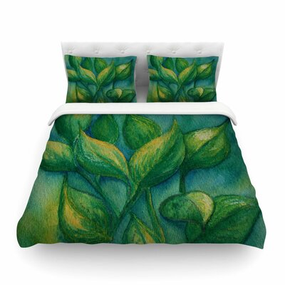 Beginnings Nature by Cyndi Steen Featherweight Duvet Cover Size: Full/Queen