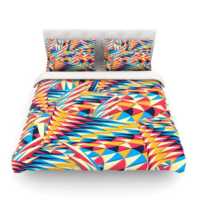Painting Life Abstract by Danny Ivan Featherweight Duvet Cover Size: Full/Queen
