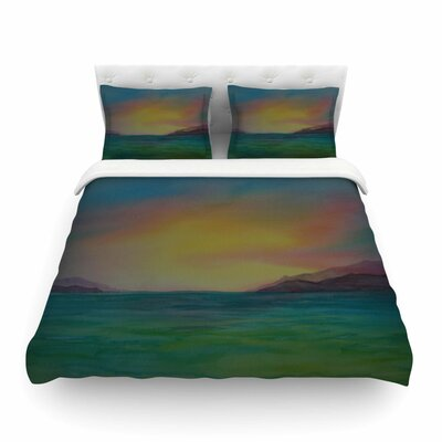 Christys Island Watercolor by Cyndi Steen Featherweight Duvet Cover Size: Full/Queen