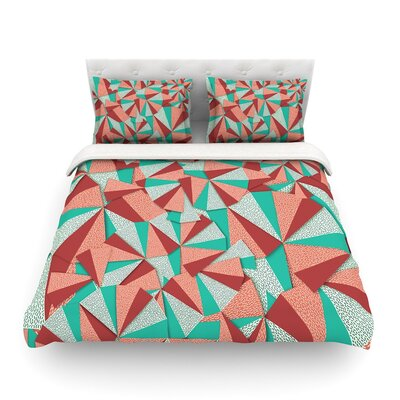 Marsala Pattern by Danny Ivan  Featherweight Duvet Cover Size: Twin