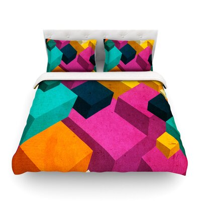Happy Cubes by Danny Ivan Featherweight Duvet Cover Size: Twin