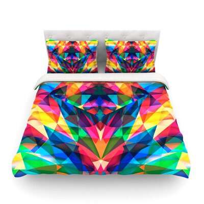 Day We Met Rainbow Geometric by Danny Ivan Featherweight Duvet Cover Size: Twin