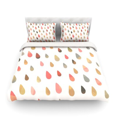 Opal Drops - by Daisy Beatrice Featherweight Duvet Cover Color: Dusk/Peach/White, Size: Twin