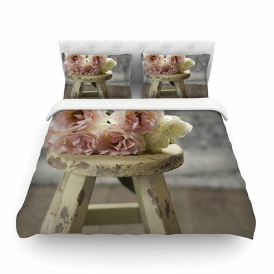 Roses on Stool Floral Photography by Cristina Mitchell Featherweight Duvet Cover Size: Twin