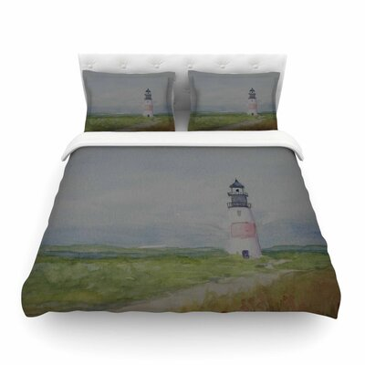 Sankaty Lighthouse by Cyndi Steen Featherweight Duvet Cover Size: Full/Queen