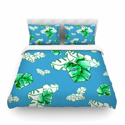 Palmtree by Danii Pollehn Featherweight Duvet Cover Size: Full/Queen