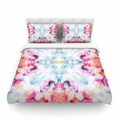 Hibiscus Kaleidoscope by Danii Pollehn Featherweight Duvet Cover Size: Full/Queen