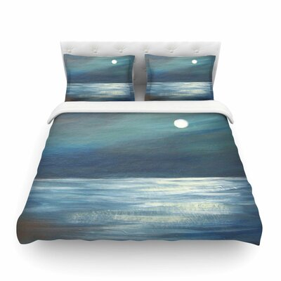 A Walk in The Moonlight by Cyndi Steen Featherweight Duvet Cover Size: Twin