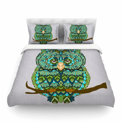 Great Owl by Art Love Passion Featherweight Duvet Cover Size: Full/Queen