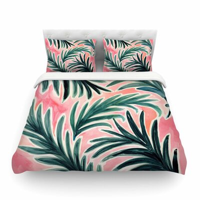 Lush Palm Leaves by Crystal Walen Featherweight Duvet Cover Size: Twin