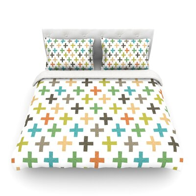 Hipster Crosses Repeat by Daisy Beatrice Featherweight Duvet Cover Size: Full/Queen