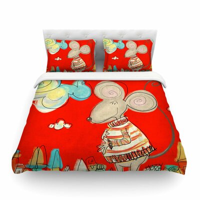 Urban Mouse by Catherine McDonald Featherweight Duvet Cover Size: Twin