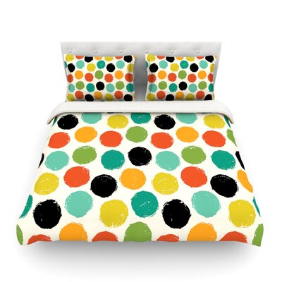 Retro Dots Repeat by Daisy Beatrice Featherweight Duvet Cover Size: Full/Queen