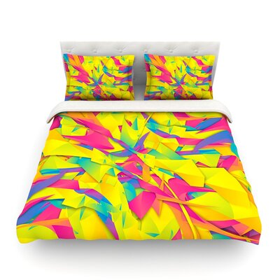 Bubble Gum Explosion by Danny Ivan Featherweight Duvet Cover Size: King