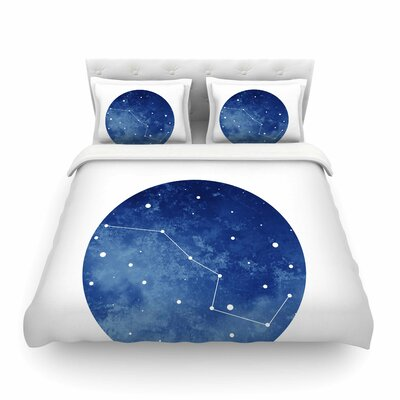 Ursa Major Celestial by Chelsea Victoria Featherweight Duvet Cover Size: Full/Queen