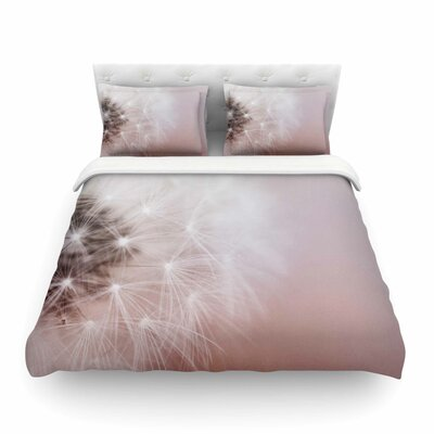 Dandelion Dreams Floral by Chelsea Victoria Featherweight Duvet Cover Size: Twin