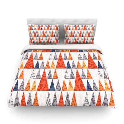 Tepee Town by Daisy Beatrice Featherweight Duvet Cover Size: Full/Queen