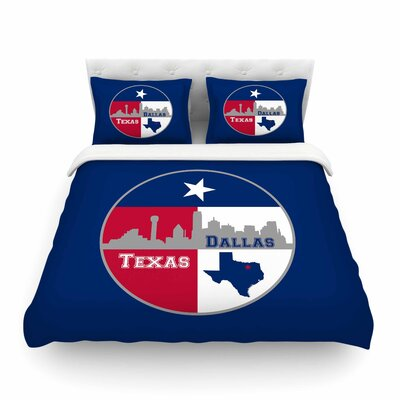 Dallas Texas by Bruce Stanfield Featherweight Duvet Cover Size: King