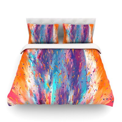 Colorful Fire by Danny IvanFeatherweight Duvet Cover Size: Twin