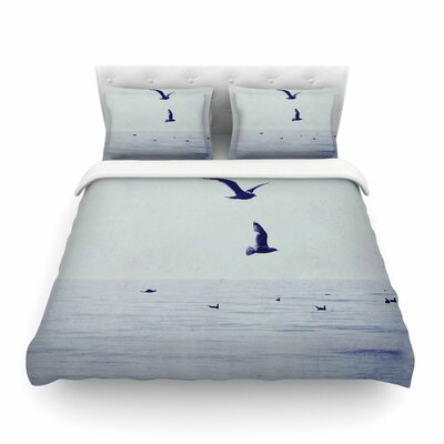 Two If by Sea Nautical Photography by Chelsea Victoria Featherweight Duvet Cover Size: King