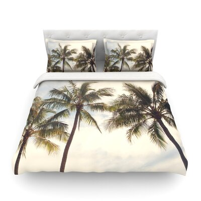 Boho Palms Coastal Trees by Catherine McDonald Featherweight Duvet Cover Size: Twin